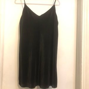 black ridge silk mini dress